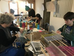 Learning to weave with a rigid heddle loom