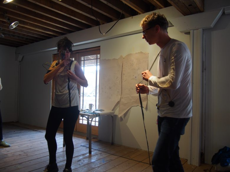 Pauline and Ingo demonstrate their recently uncovered Wool Punk instruments