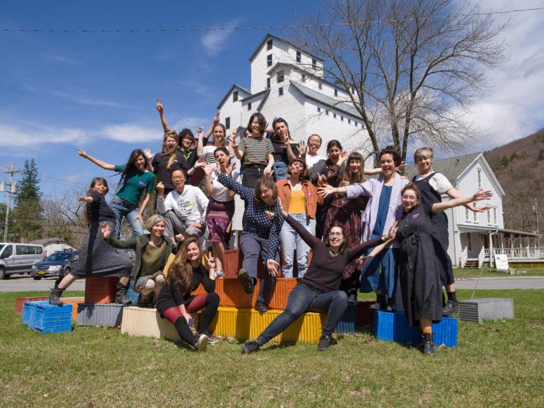 All 2019 participants standing together outside the Wassaic Project Mill
